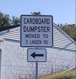 Dumpster Moved
