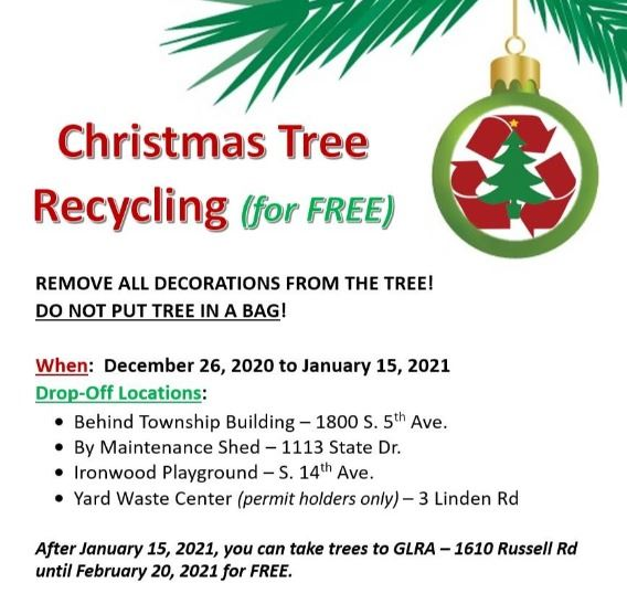 2020 Christmas Tree Recycling